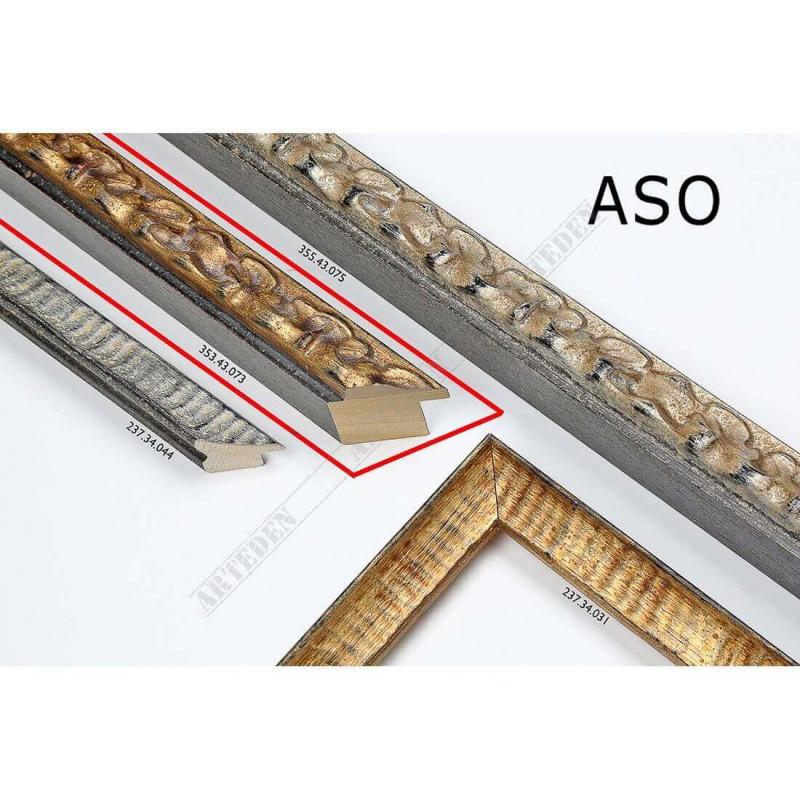 ASO355.43.073 30x40 - wąska złota postarzana rama do zdjęć i luster