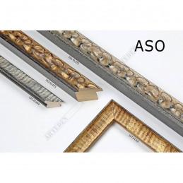 ASO355.43.075 30x40 - wąska srebrna postarzana rama do zdjęć i luster