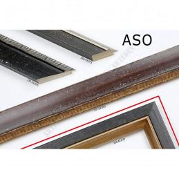 ASO356.43.073 33x25 - wąska czarna rama do zdjęć i luster
