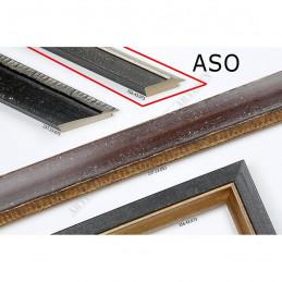 ASO356.43.075 33x25 - wąska ciemno brązowa rama do zdjęć i luster