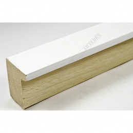 ASO800.63.548 28x35 - wąska biała lak blejtram rama do zdjęć i luster sample1