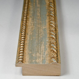 BOE152.53.037 50x16 - drewniana clasico celeste argento rama do obrazów i luster sample