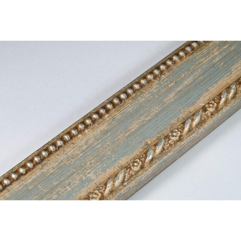 BOE152.53.037 50x16 - drewniana clasico celeste argento rama do obrazów i luster