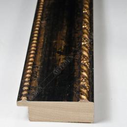 BOE152.53.045  50x16 - drewniana nero oro rama do obrazów i luster sample