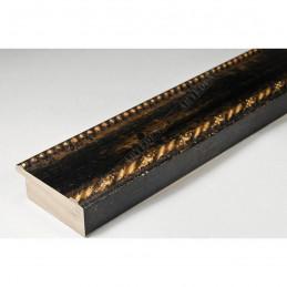 BOE152.53.045  50x16 - drewniana nero oro rama do obrazów i luster sample1