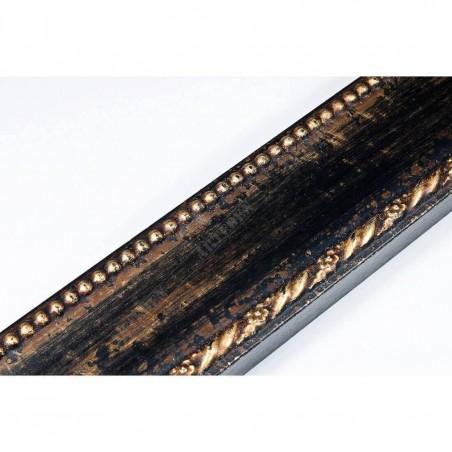 BOE152.53.045  50x16 - drewniana nero oro rama do obrazów i luster