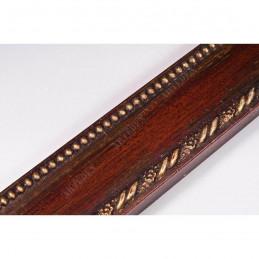 BOE152.53.046 50x16 - drewniana rosso oro rama do obrazów i luster