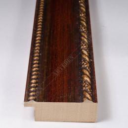 BOE152.53.046 50x16 - drewniana rosso oro rama do obrazów i luster sample