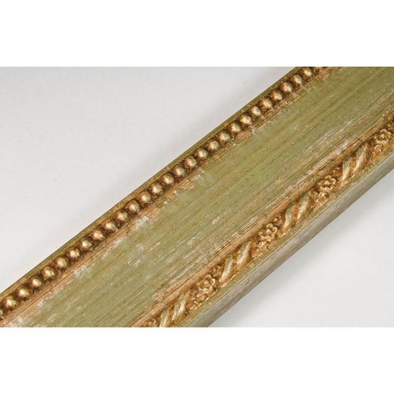 BOE152.53.047 50x16 - drewniana clasico verde oro rama do obrazów i luster