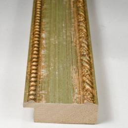 BOE152.53.047 50x16 - drewniana clasico verde oro rama do obrazów i luster sample