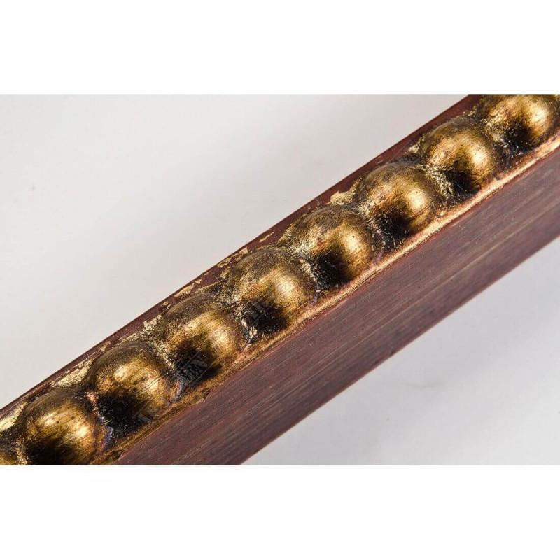 BOE170.33.046 18x37 - mała classico rosso oro ramka do zdjęć i obrazków