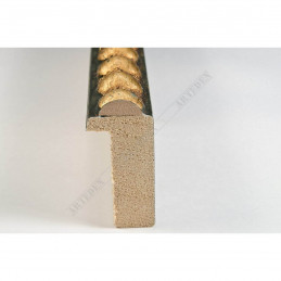 BOE170.33.047 18x37 - mała classico verde oro ramka do zdjęć i obrazków sample