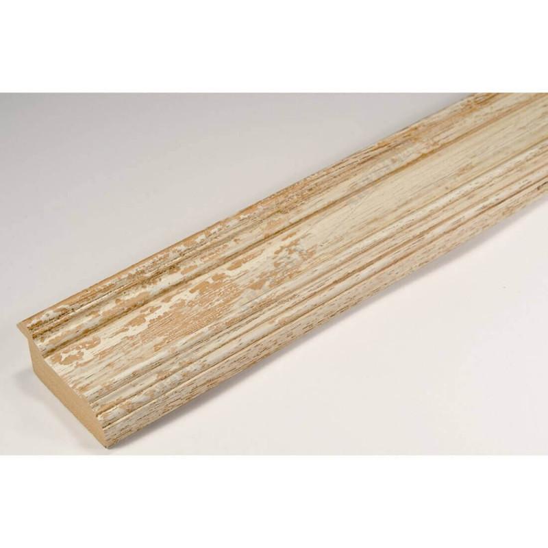 BOE183.53.048 44x20 - drewniana affresco biała rama do obrazów i luster