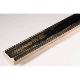 BOE183.53.049 44x20 - drewniana affresco czarna rama do obrazów i luster sample