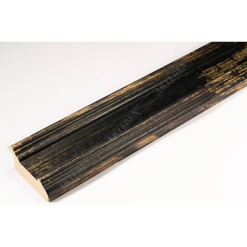 BOE183.53.049 44x20 - drewniana affresco czarna rama do obrazów i luster