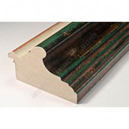 BOE187.93.047 89x54 - szeroka classico verde gola bianco filo oro rama do obrazów i luster sample1