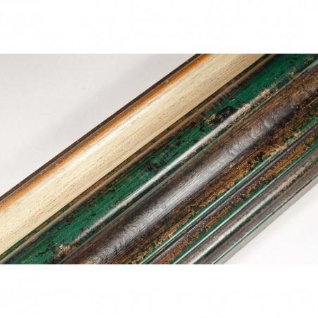 BOE187.93.047 89x54 - rama classico verde gola bianco filo oro
