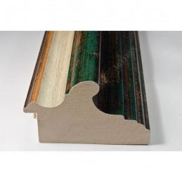 BOE187.93.047 89x54 - szeroka classico verde gola bianco filo oro rama do obrazów i luster sample