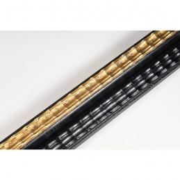 BOE230.43.086 35x27 - drewniana classico nero oro rama do obrazów i luster