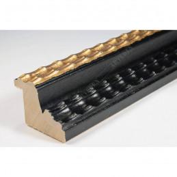 BOE230.43.086 35x27 - drewniana classico nero oro rama do obrazów i luster sample1