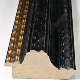 BOE230.73.086 70x35 - drewniana classico nero oro rama do obrazów i luster sample