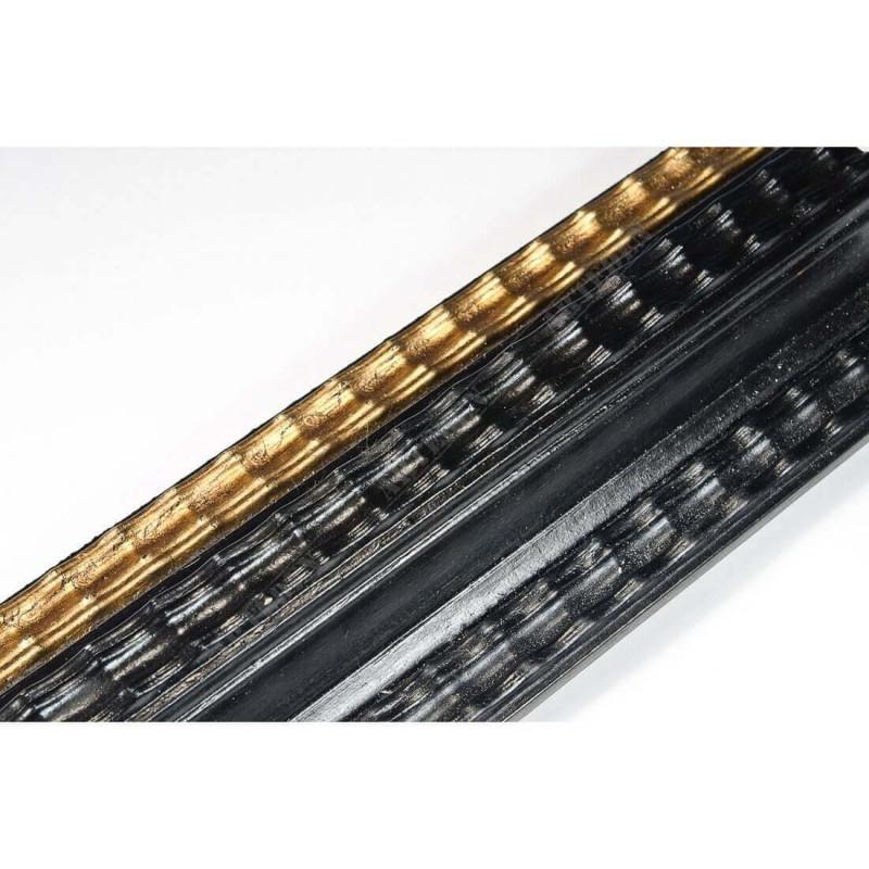 BOE230.73.086 70x35 - drewniana classico nero oro rama do obrazów i luster