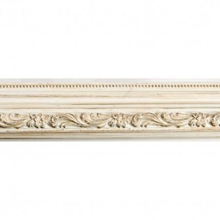 IAF560-23 35x30 - drewniana biała mat z ornamentem rama do obrazów i luster sample1