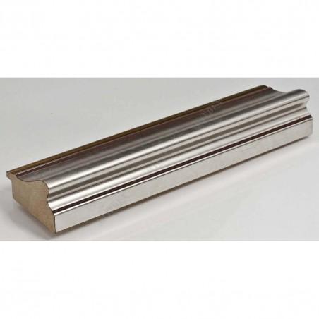 IAF675-12 50x30 - drewniana srebrna rama do obrazów i luster