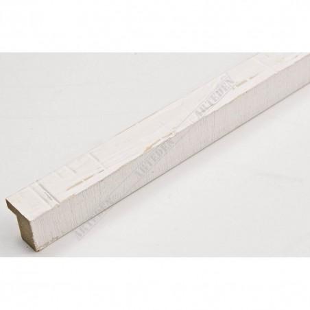 INK1717.380 17x16 - mała biała drapana ramka do zdjęć i obrazków