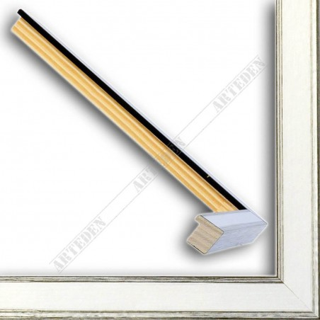 INK1717.620 17x16 - mała srebrna przecierana ramka do zdjęć