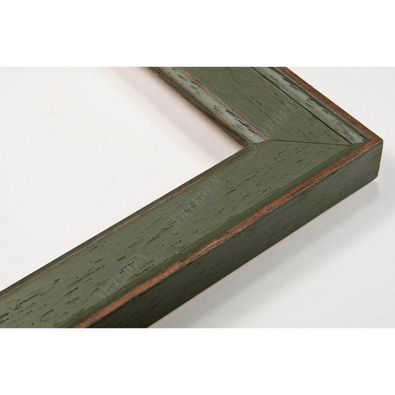 INK1811.495 28x15 - wąska zielona rama do zdjęć i luster