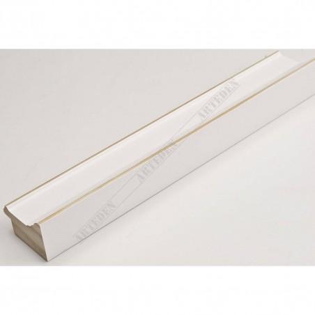 INK1815.480 42x28 - drewniana biała rama do obrazów i luster
