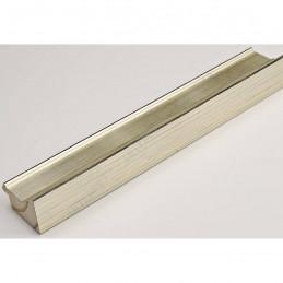INK1815.624 42x28 - drewniana srebrna ocieplana rama do obrazów i luster