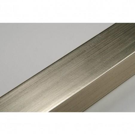 INK2322.667 23x22 - wąska srebrna ciepła rama do zdjęć i luster