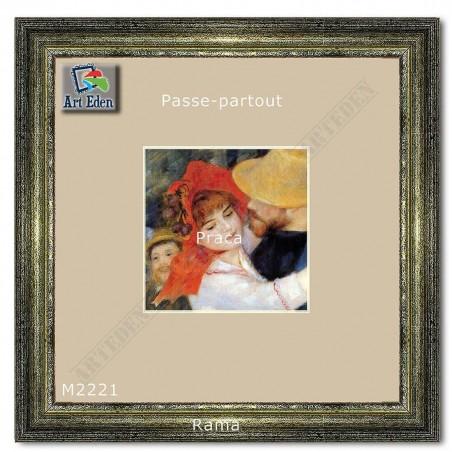 Karton Passe-Partout Moorman ecru M2221 sample
