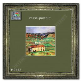 Karton Passe-Partout Moorman zielono popielaty M2458 sample