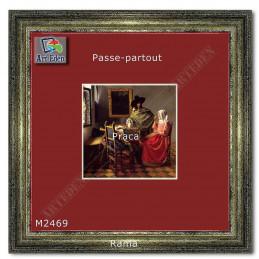 Karton Passe-Partout Moorman wiśniowy M2469 sample