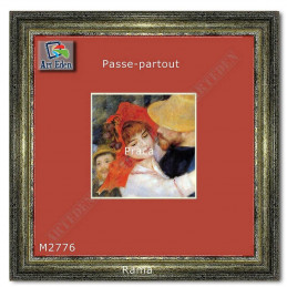 Karton Passe-Partout Moorman czerwony M2776 sample