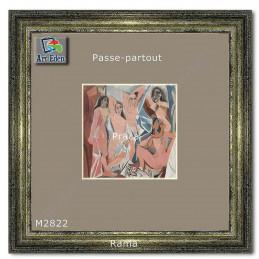 Karton Passe-Partout Moorman szary M2822 sample
