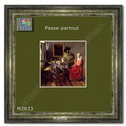 Karton Passe-Partout Moorman ciemna jesienna zieleń M2833 sample
