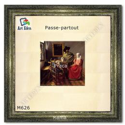 Karton Passe-Partout pokryty tkaniną - len - M626 - przykład