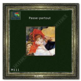 Welurowy Karton Passe-Partout zielony M111 - przykład