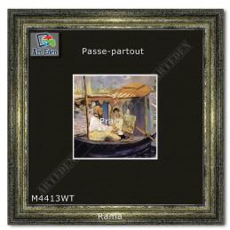 Passe-Partout czarne z białym przekrojem M4413WT sample