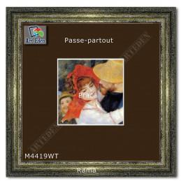 Passe-Partout brązowe z białym przekrojem M4419WT sample