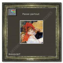Passe-Partout grafitowe z białym przekrojem M4464WT sample