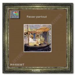 Passe-Partout brązowe z białym przekrojem M4486WT sample