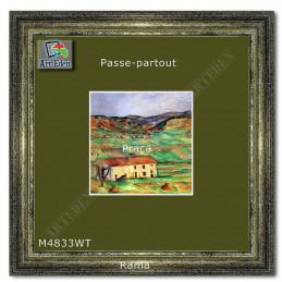 Passe-Partout jesienna zieleń z białym przekrojem M4833WT sample
