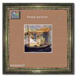 Passe-Partout beżowe z białym przekrojem M4866WT sample