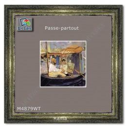 Passe-Partout szaro fioletowe z białym przekrojem M4879WT sample