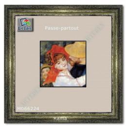 Passe-Partout biały z czarnym przekrojem M066224